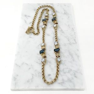 Tory Burch Long Chain Crystal Rare Necklace